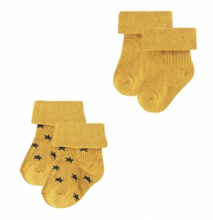 000000 U Socks 2 pck Levi Star logo