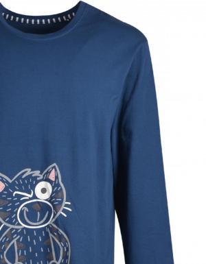 pyjama 872 petrolblauw
