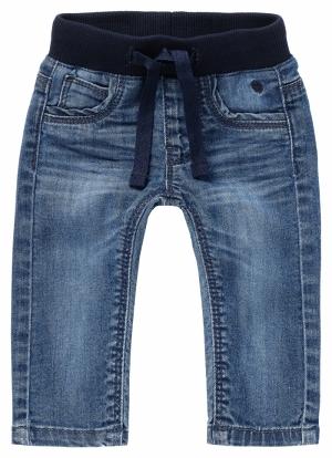 000000 B Regular fit Pants Nav logo